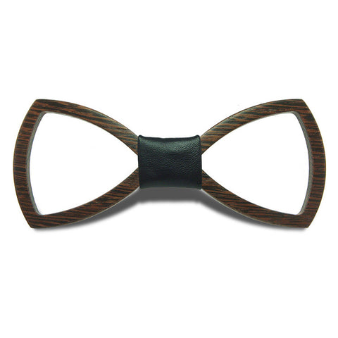 Geometric II - Retro Hollow Out Wenge Wood, Pattern Knot, Bow Tie