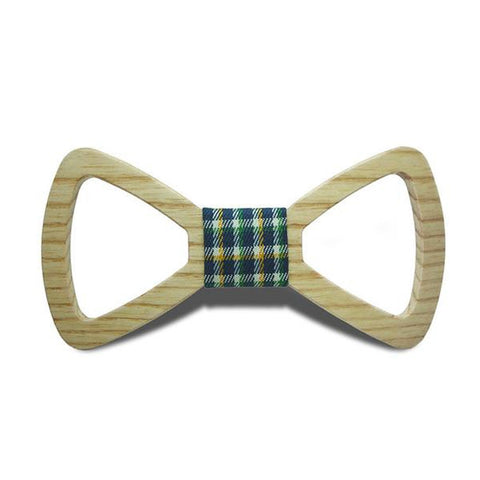 Mr. Business III - Handmade Hollow Out Oak Wood, Pattern Knot, Bow Tie