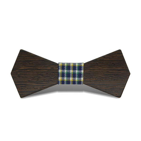 Bat Wings - Retro Wenge Wood, Pattern Knot, Bow Tie | Subtle Fit
