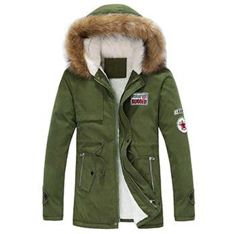 Munikatio - Men's Fur Hooded Jacket
