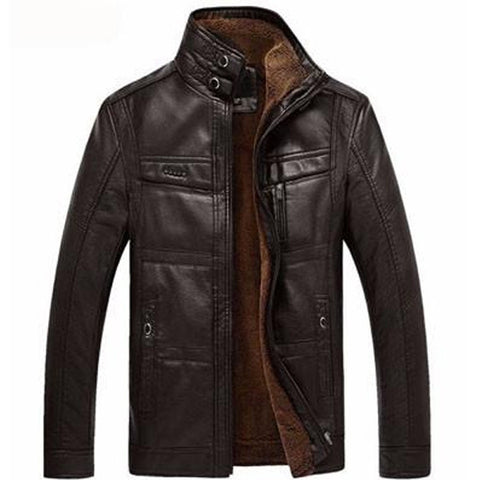 Kombinatio - Men's Business Casual Leather Jacket