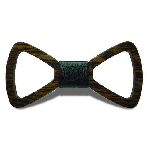Mr. Business - Handmade Hollow Out Wenge Wood, Pattern Knot, Bow Tie