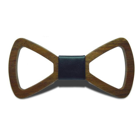 Mr. Business II - Handmade Hollow Out Black Walnut Wood, Pattern Knot, Bow Tie