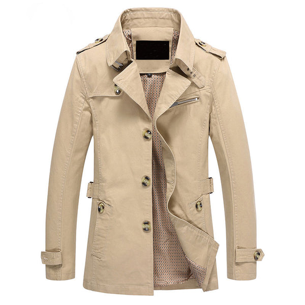 Preussio - Men's Fashion Trench Coat Jacket