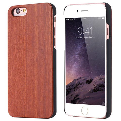Ingraine - Full Cover Rose Wood Case For Apple iPhone 6 and greater - Subtle Fit