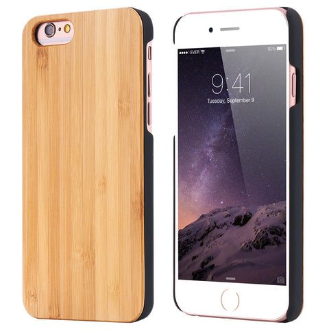 Hotelien - Full Cover Bamboo Wood Case For Apple iPhone 6 and greater - Subtle Fit