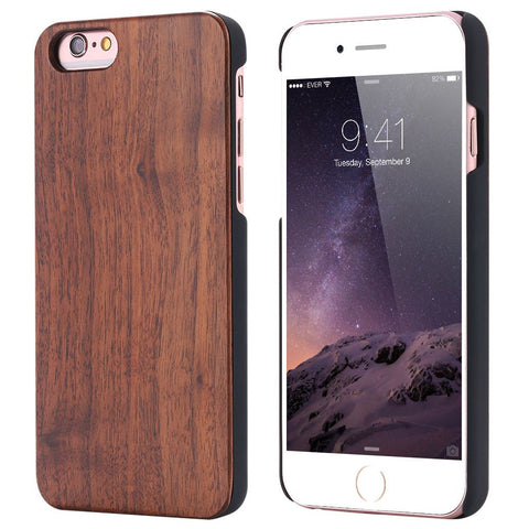 Reprodi - Full Cover Black Walnut Wood Case For Apple iPhone 6 and greater - Subtle Fit