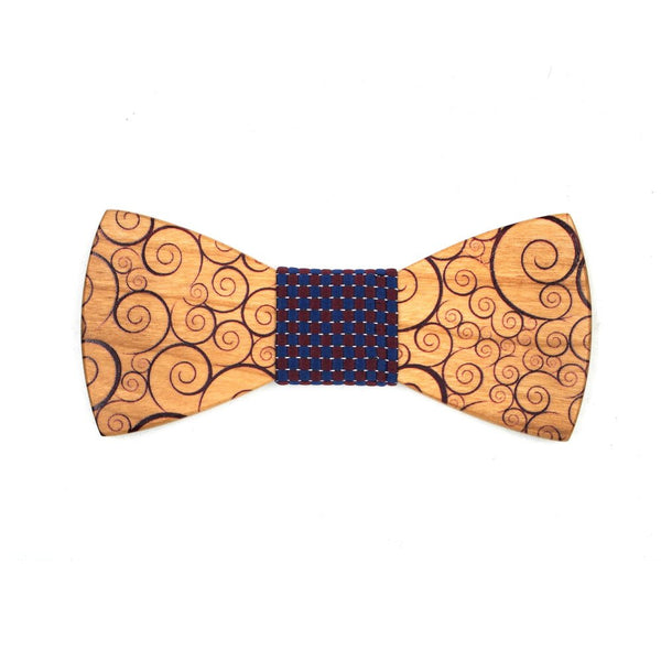 Atavion - Novelty Vines Design Wood, Pattern Knot, Bow Tie | Subtle Fit