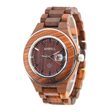 Meillera - Men's Red Wood Analog Wristwatch