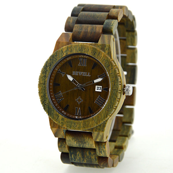 Avorable - Men's Green Wood Analog Wristwatch | Subtle Fit