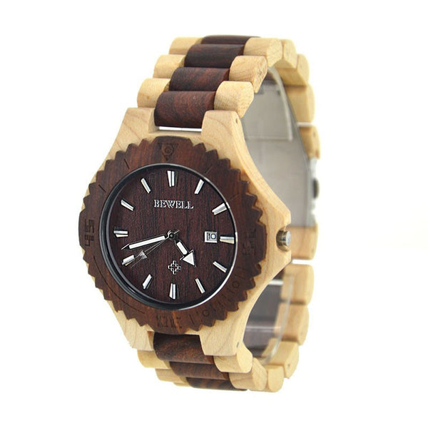 Beachter - Men's Wood Analog Wristwatch - Subtle Fit