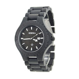 Abletter - Men's Black Wood Analog Wristwatch