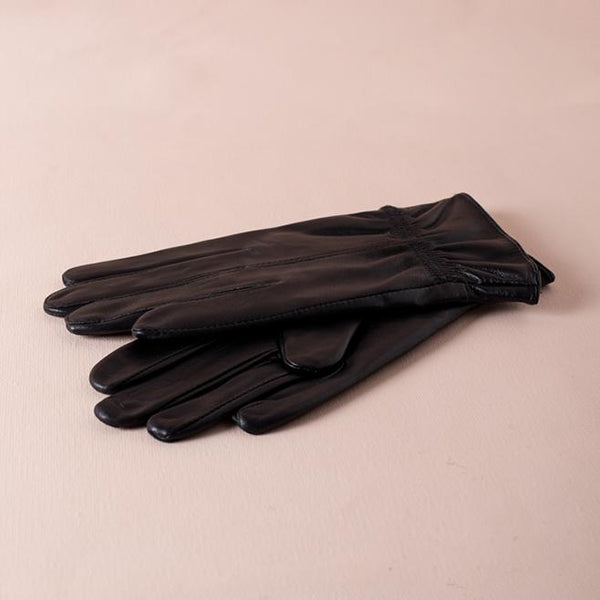Jet Vegan Leather Gloves