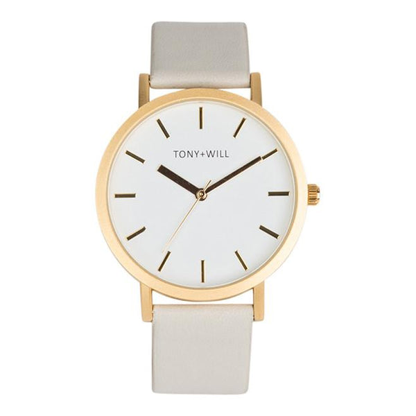 Tony + Will Matte Gold and Grey Watch