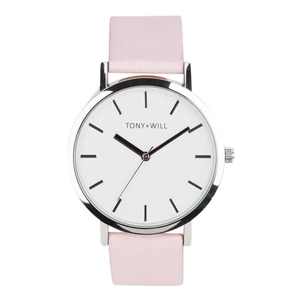 Tony + Will Pink and Silver Watch