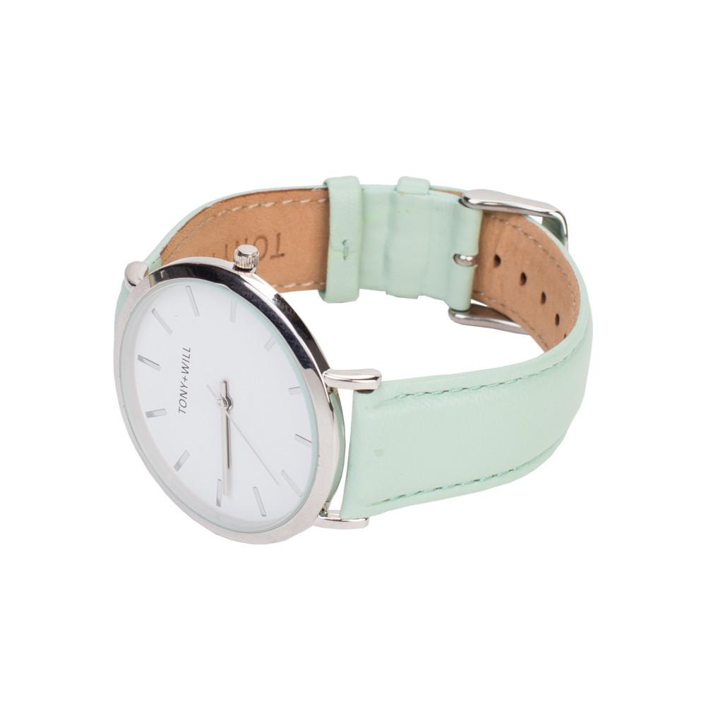 Tony + Will Silver and Mint Watch