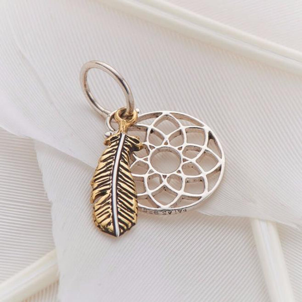 """Feather and Dreamcatcher"" Charm"