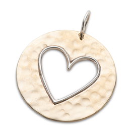 Cut Out Heart Charm