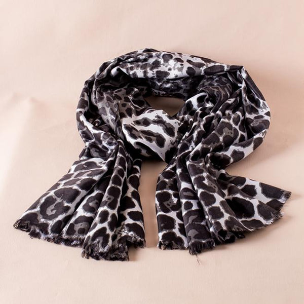Roxy Black and White Jaguar Scarf