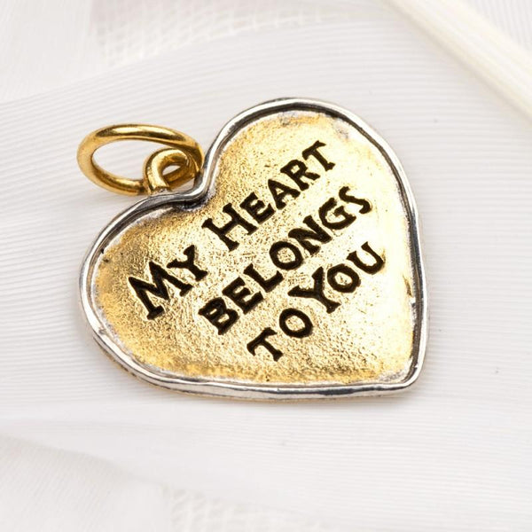 """My Heart Belongs To You"" Charm"