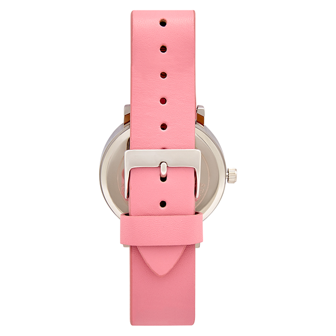 Tony + Will  Soft Pink, White and SIlver Watch ( smaller dial)