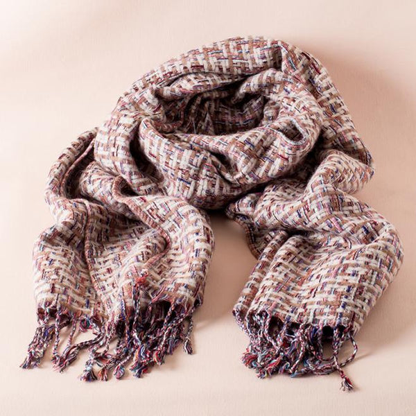 The Ariza Boucle Woven Scarf