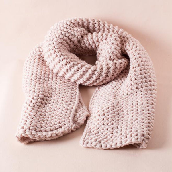 The Amber Cable Knit Pale Scarf