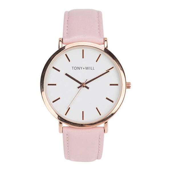 Tony + Will Shiny Rose Gold and Pink Watch