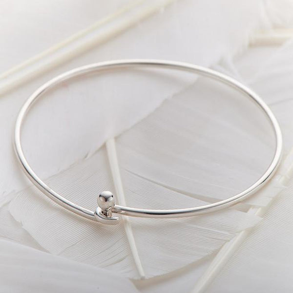 Silver Fine Opening Bangle