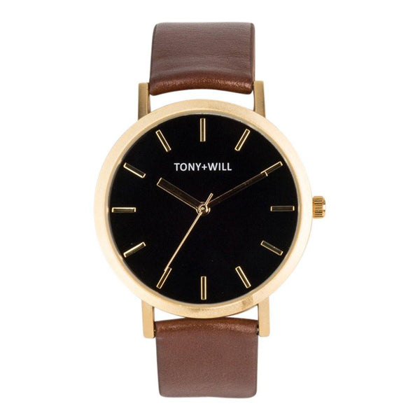 Tony + Will Black, Gold and Tan Watch