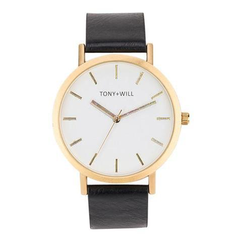 Tony + Will Matte Gold and Black Watch