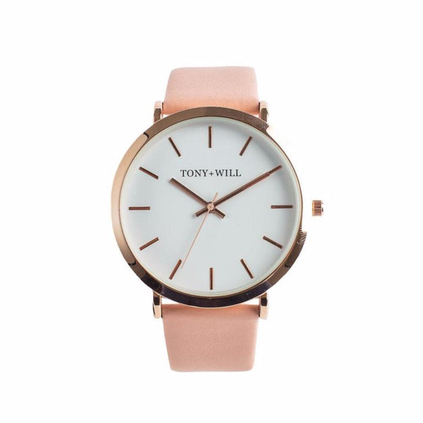 Tony + Will Peach and Polished Rose Gold Watch