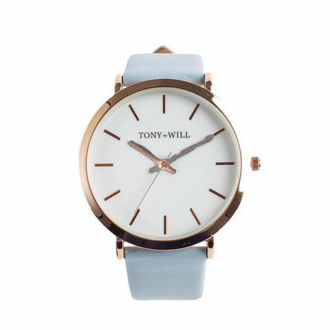 Tony + Will Powder Blue and Polished Rose Gold Watch
