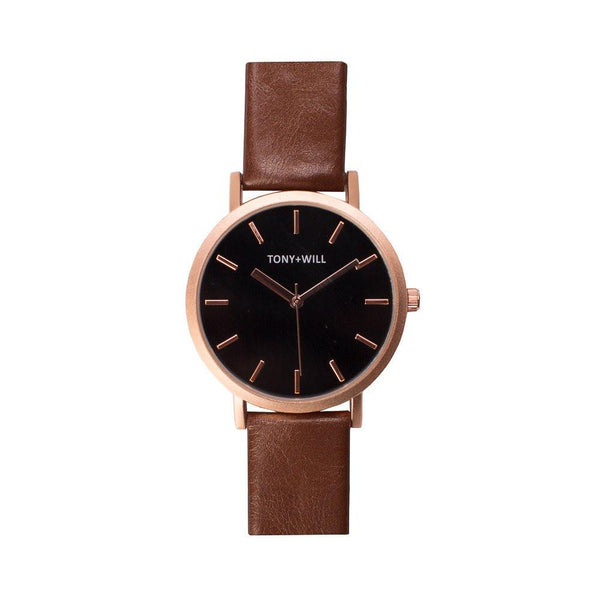 Tony + Will Rose, Black and Tan Watch