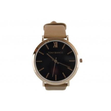Tony Bianco Warhol Rose Gold,  Black and Tan Watch