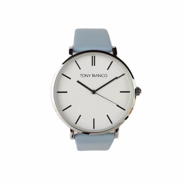 Tony Bianco Williams Powder Blue, Silver and White Watch