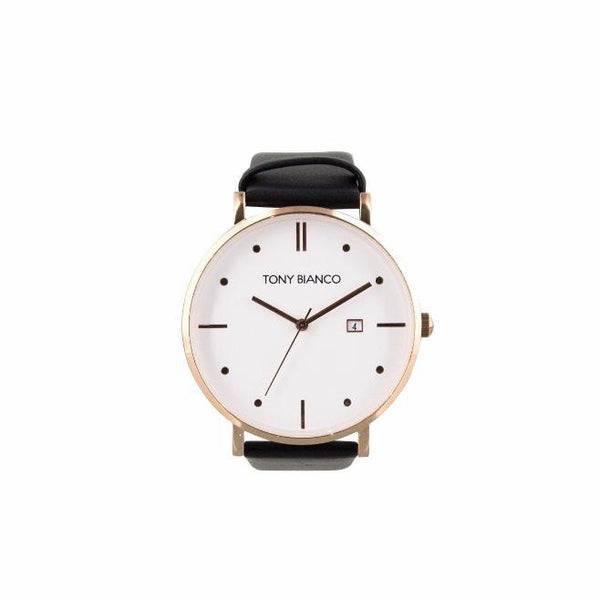 Tony Bianco Wilmer Black and Rose Gold Watch