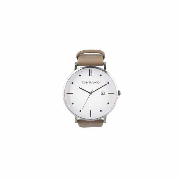 Tony Bianco Wilmer Beige, Silver and White Watch