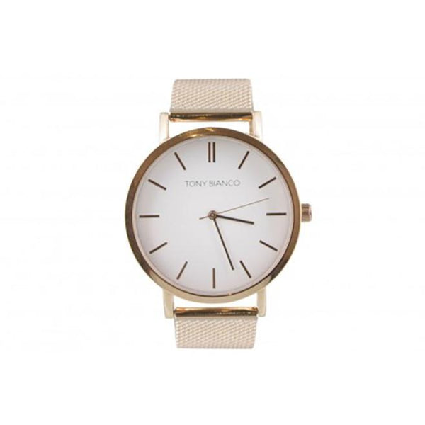 Tony Bianco Rose Gold Mesh Watch