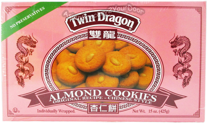 Twin Dragon - Almond Cookies - 15 oz / 425 g - Asiangrocery2yourdoor