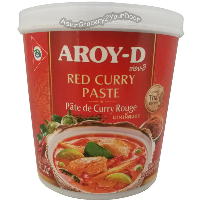 Aroy-D - Red Curry Paste - 14 oz / 400 g - Asiangrocery2yourdoor