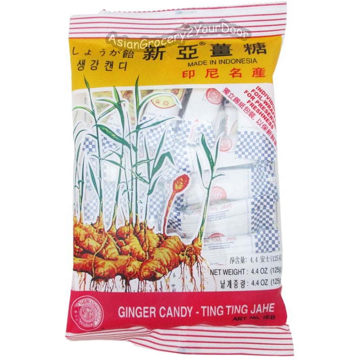 Sina - Ginger Candy Ting Ting Jahe - 4.4 oz / 125 g - Asiangrocery2yourdoor