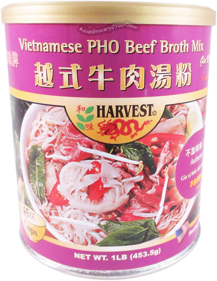 Harvest - Pho Beef Broth Mix - 16 oz / 1 lb - Asiangrocery2yourdoor
