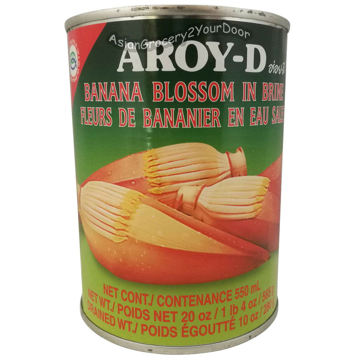 Aroy-D Banana Blossom in Brine - 20 oz / 565 g - Asiangrocery2yourdoor