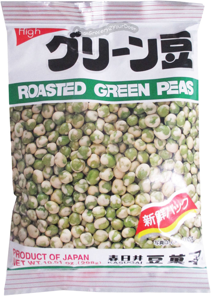 Kasugai - Roasted Green Peas - 10.51 oz / 298 g - Asiangrocery2yourdoor