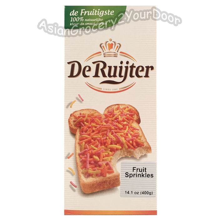 De Ruijter - Fruit Sprinkles - 14.1 oz / 400 g - Asiangrocery2yourdoor