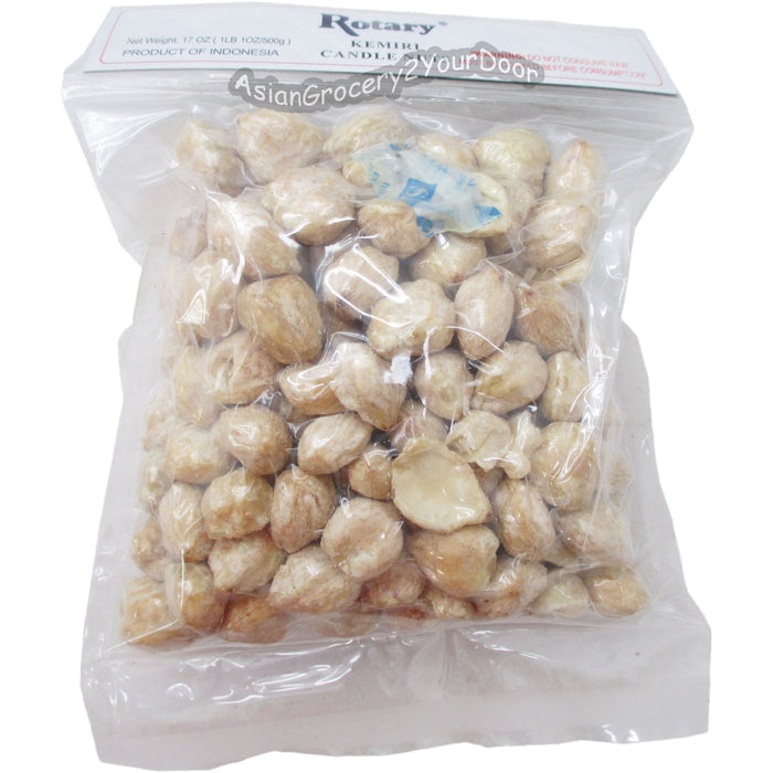 Rotary - Kemiri Candle Nuts - 17 oz. 500 g - Asiangrocery2yourdoor