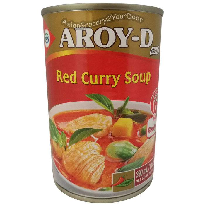 Aroy-D - Red Curry Soup - 14 oz / 400 g - Asiangrocery2yourdoor