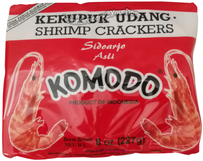 Komodo - Kerupuk Udang Shrimp Crackers - 8 oz / 227 g - Asiangrocery2yourdoor