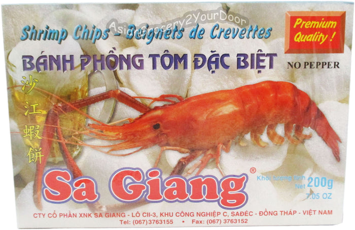 Sa Giang - Shrimp Chips Prawn Flavor - 7.5 oz / 200 g - Asiangrocery2yourdoor